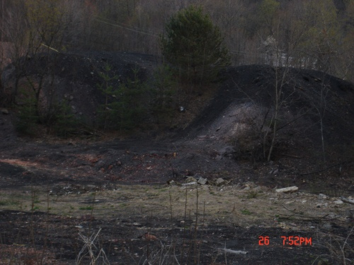 The best hope for the cleanup of Pennsylvania's coal waste piles, like this one in St. Benedict, Pa., is removal and restoration by privately-owned CFB power plants, according to DEP spokesman, Tom Rathbun. (Photo by Dale Mann)