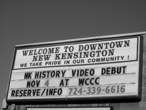 New Kensington Is... promotion sign