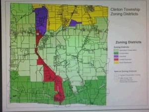 The new Zoning Map for Clinton Township