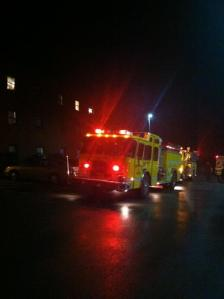 Fire Truck Outside Nittany Lion Apartments