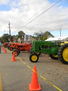 Antique farming tractors are displayed on Saturday, Oct. 12 during the 54th annual Fort Ligonier Days festival in Ligonier, Pa. (Photo by Alexandra Smith)