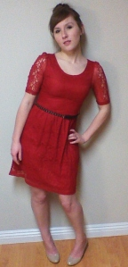 Laura Gensamer is photographed in a lace Valentine's Day, date night outfit. (Photo by Paige Owens)