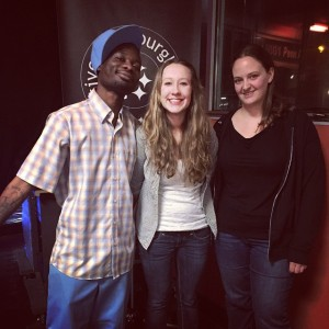 Danielle Ramsay (center) wins the Steel City Slam Poetry night at the Capri Pizzeria & Bar on March 10, 2015