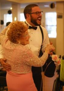 Senior Craig Synan dancing at the Senior Citizens' Prom